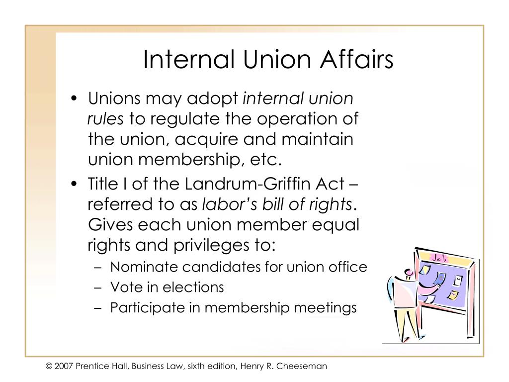 Internal Union Affairs