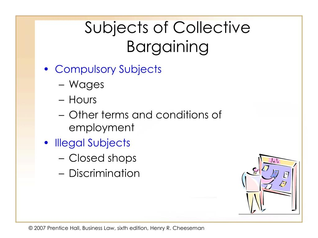 Subjects of Collective Bargaining