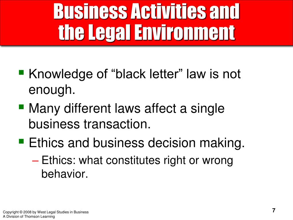 Business Activities and