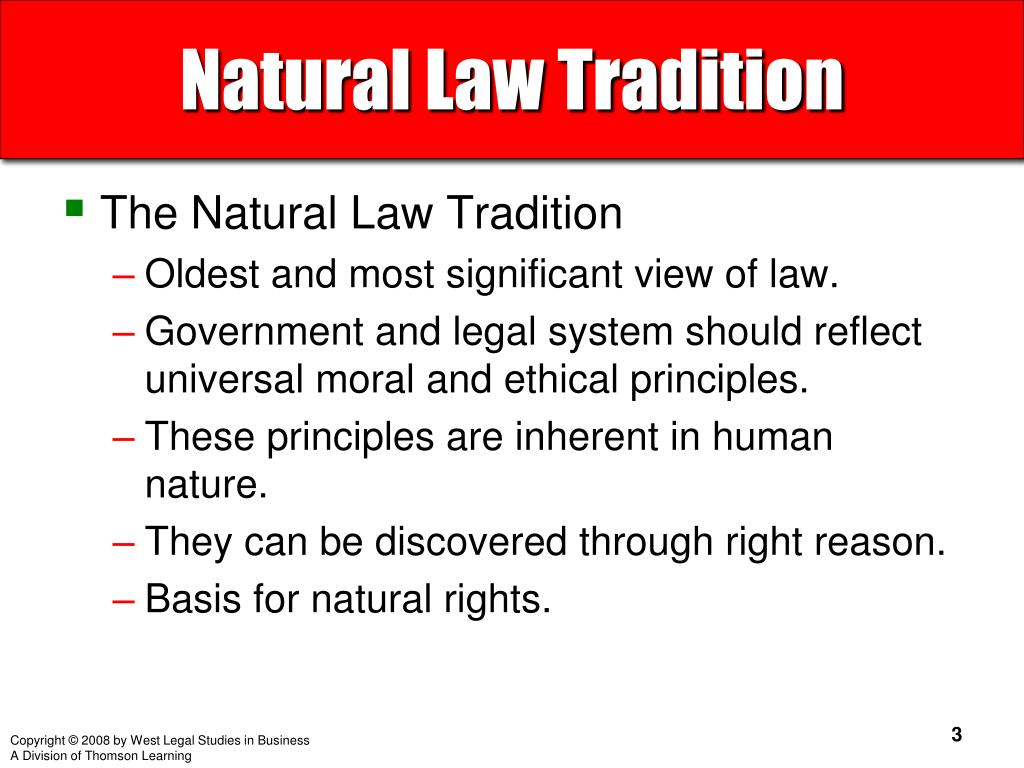 Natural Law Tradition