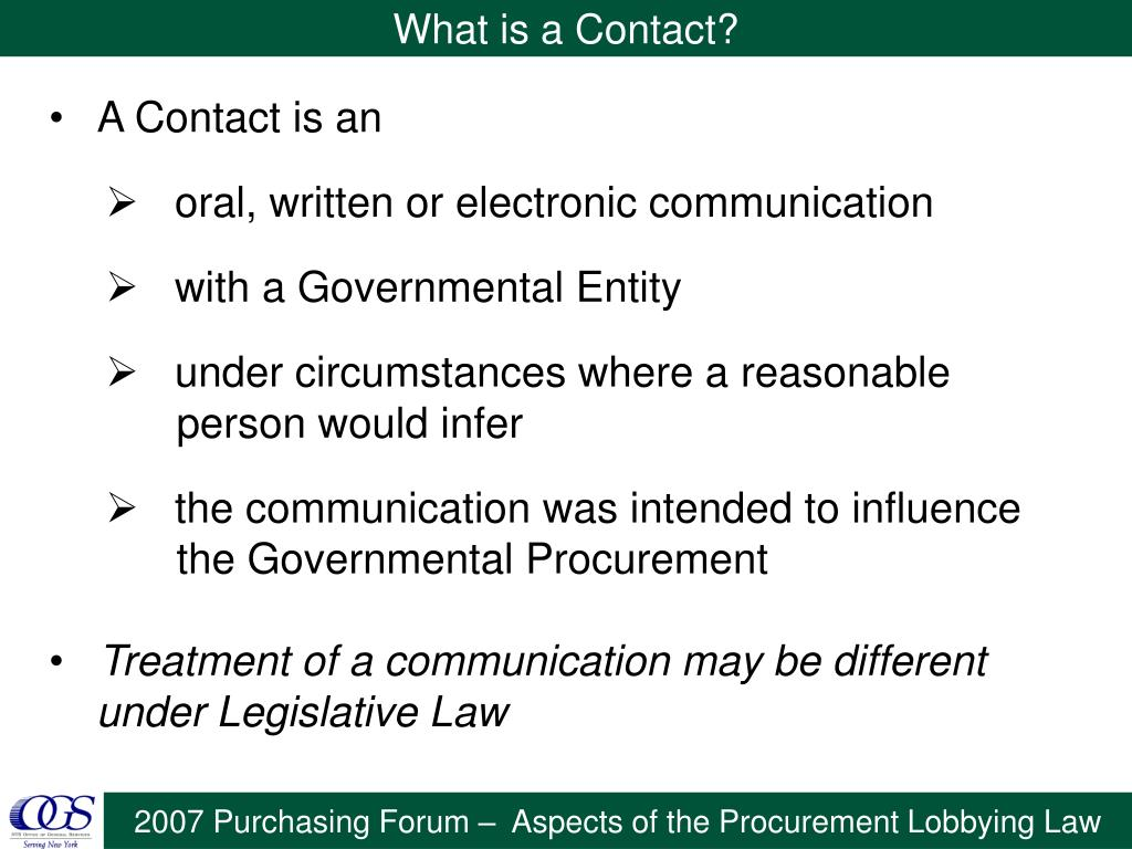 What is a Contact?
