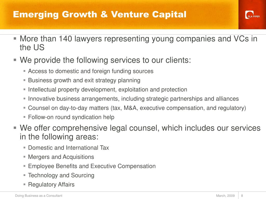 More than 140 lawyers representing young companies and VCs in the US