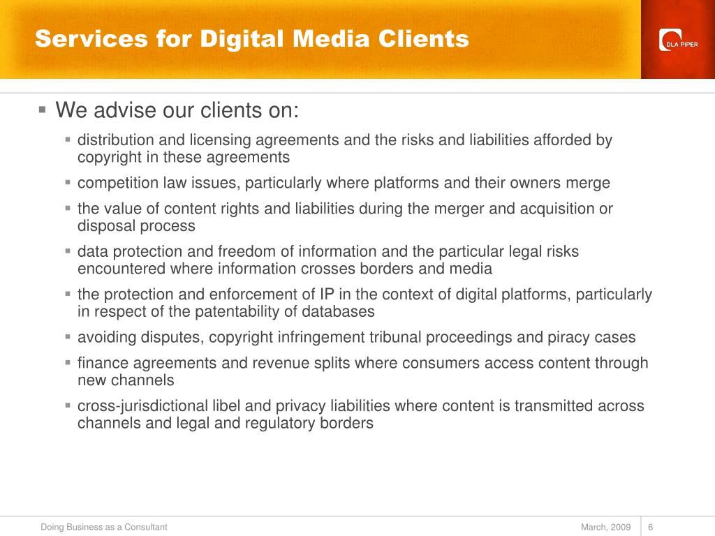 Services for Digital Media Clients