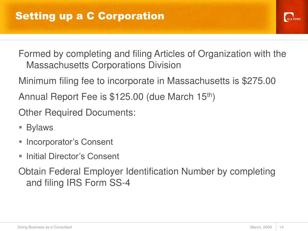 Setting up a C Corporation