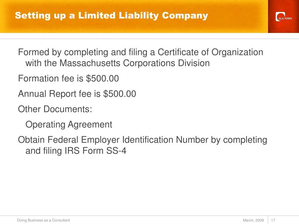 Setting up a Limited Liability Company