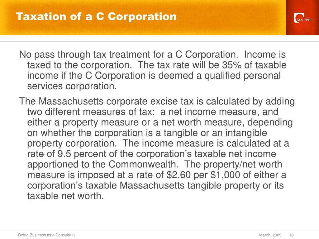 Taxation of a C Corporation