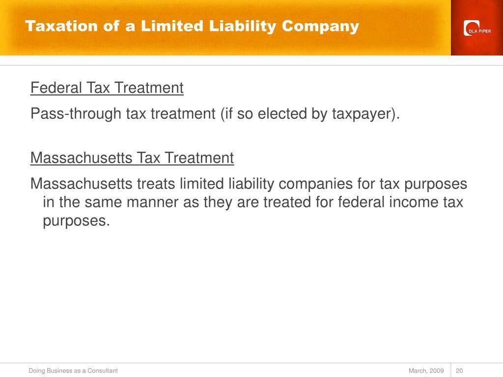 Taxation of a Limited Liability Company