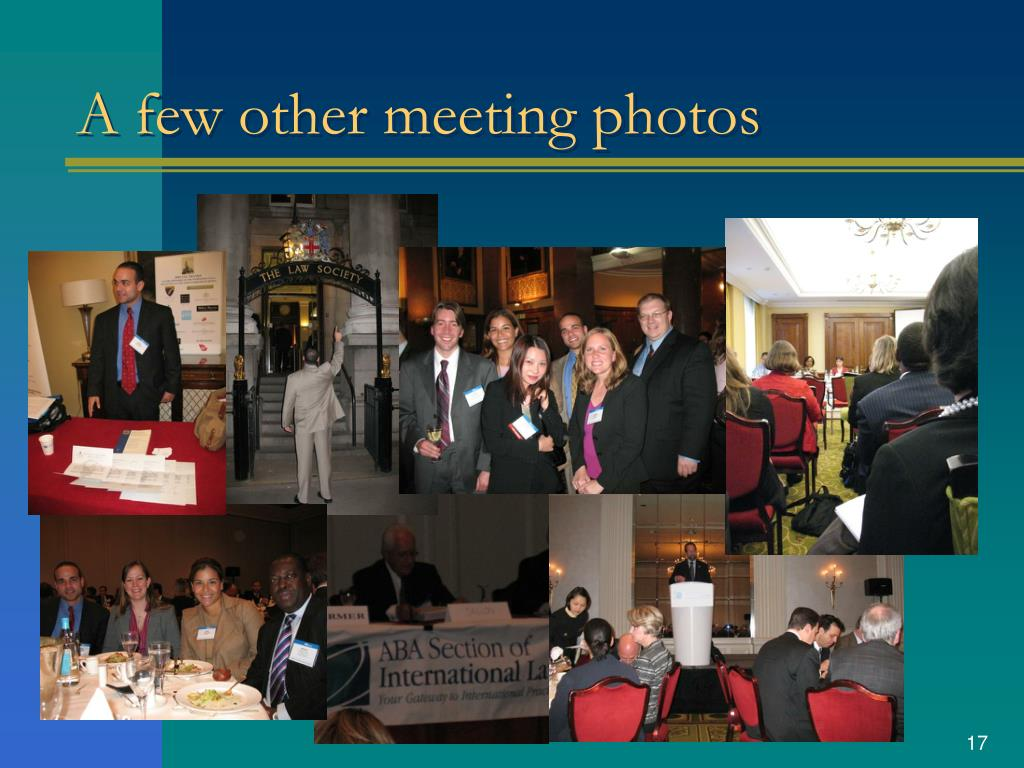 A few other meeting photos