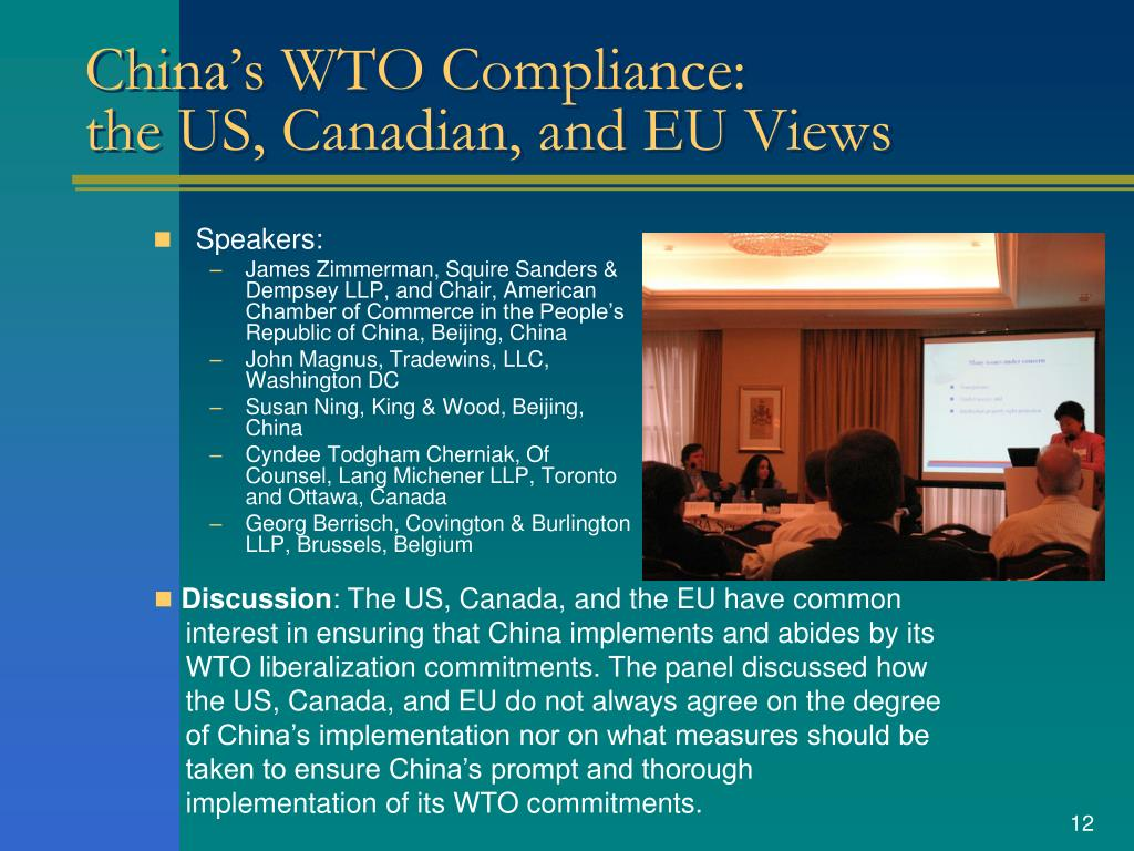China's WTO Compliance: