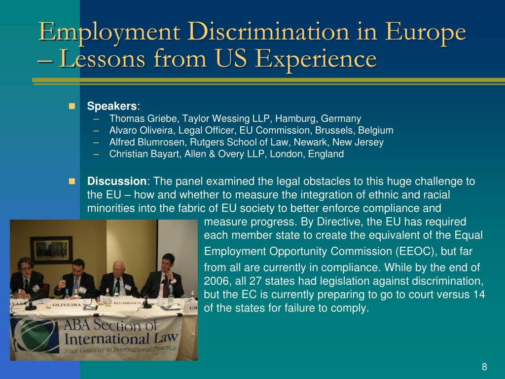 Employment Discrimination in Europe – Lessons from US Experience