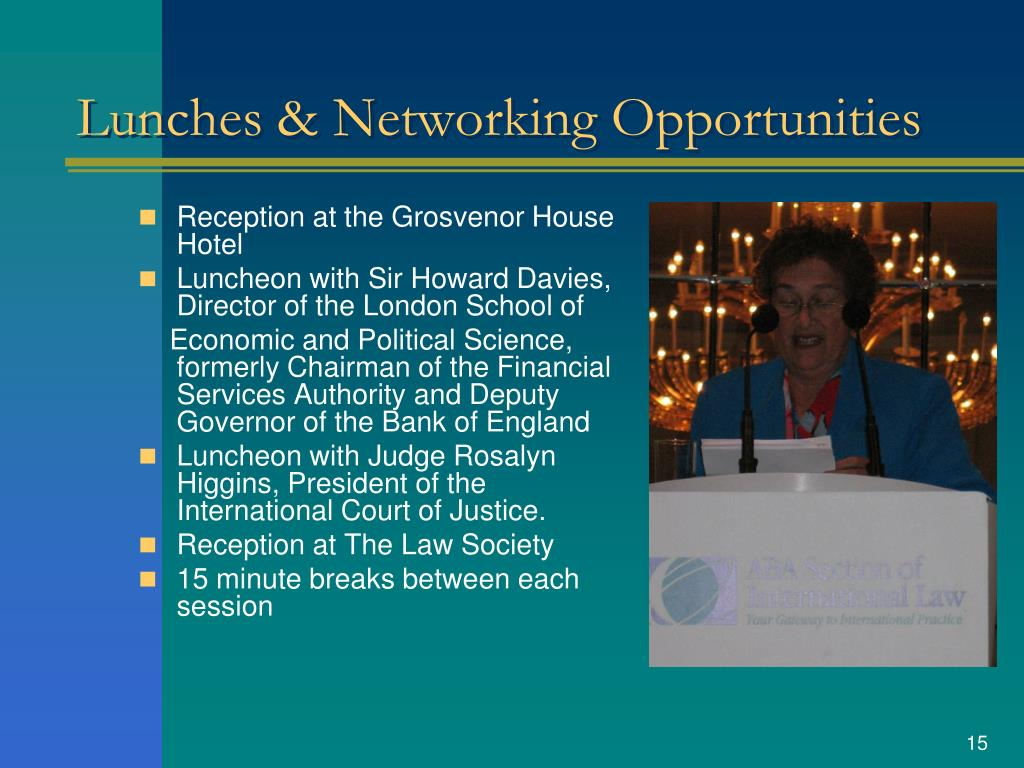 Lunches & Networking Opportunities