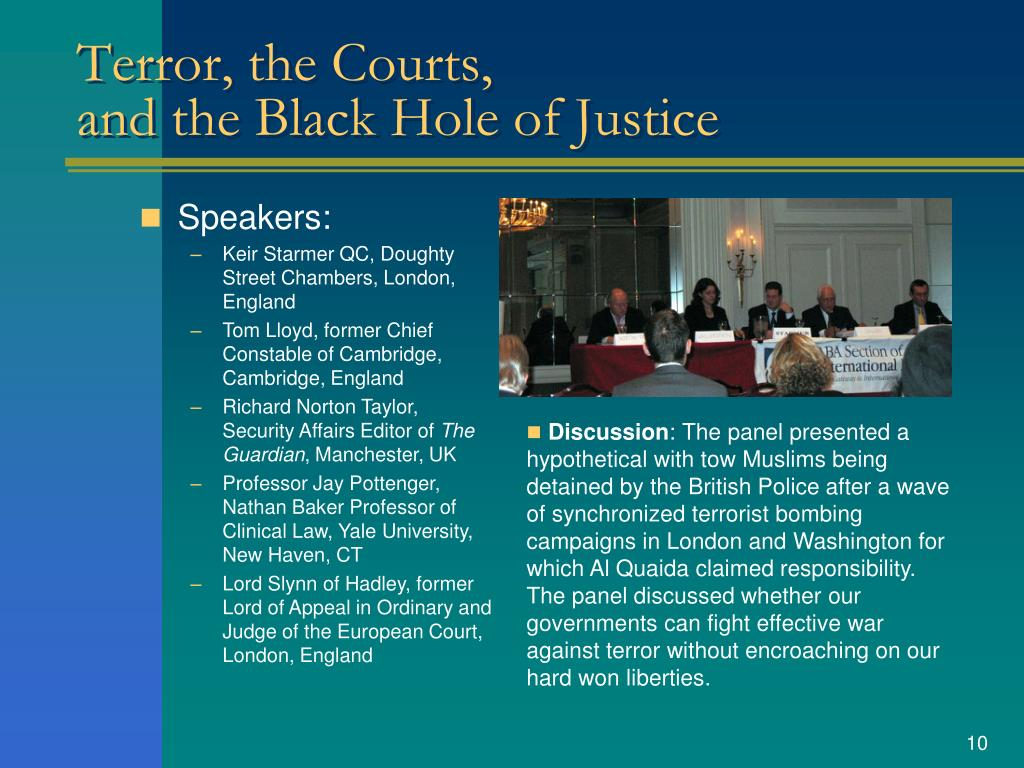 Terror, the Courts,