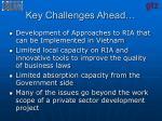 key challenges ahead