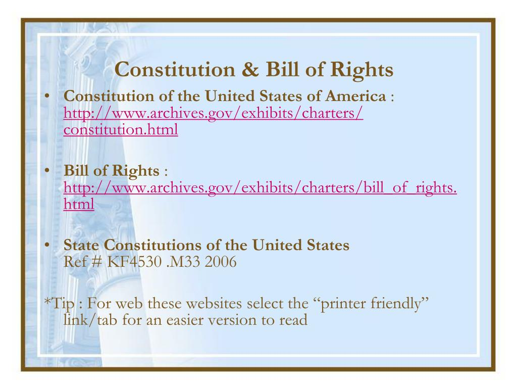 Constitution & Bill of Rights