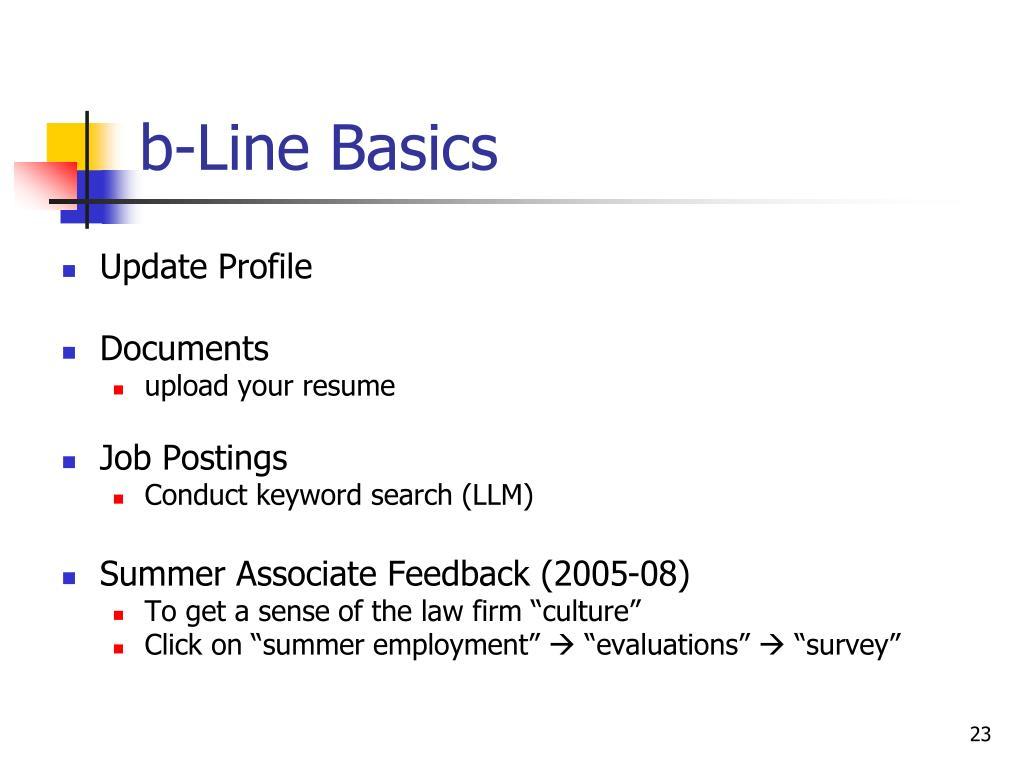b-Line Basics