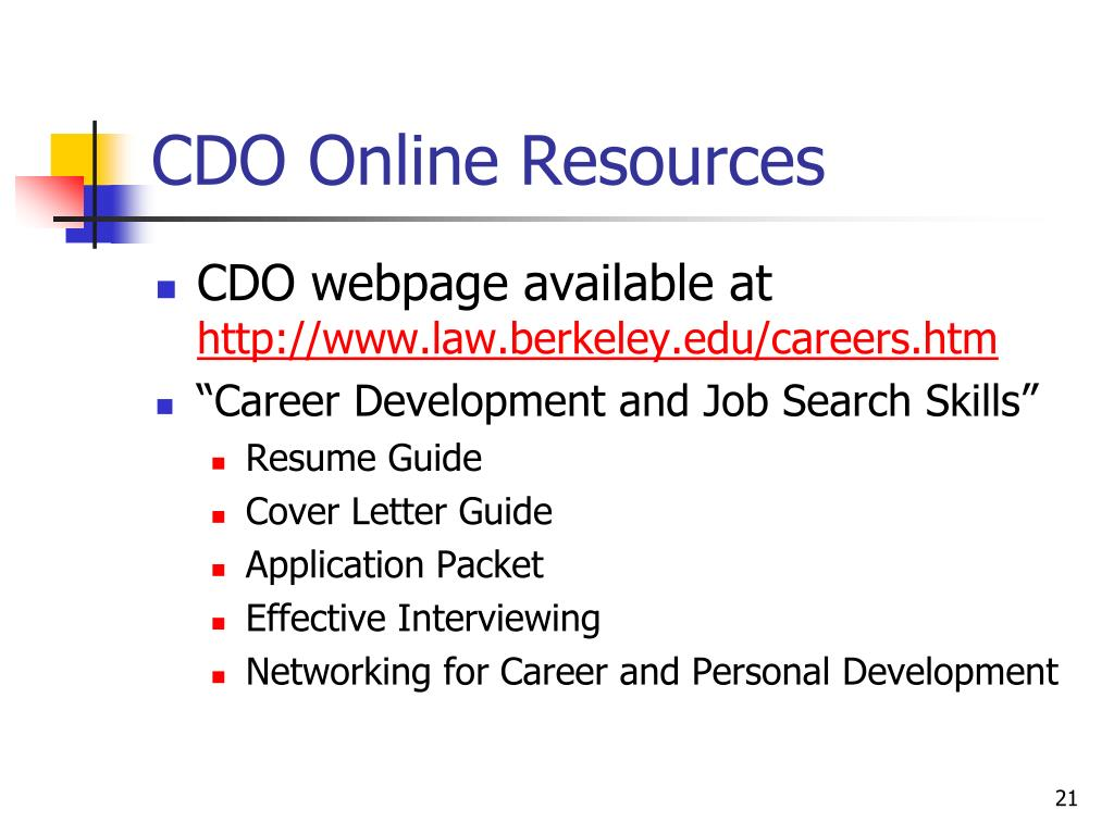 CDO Online Resources