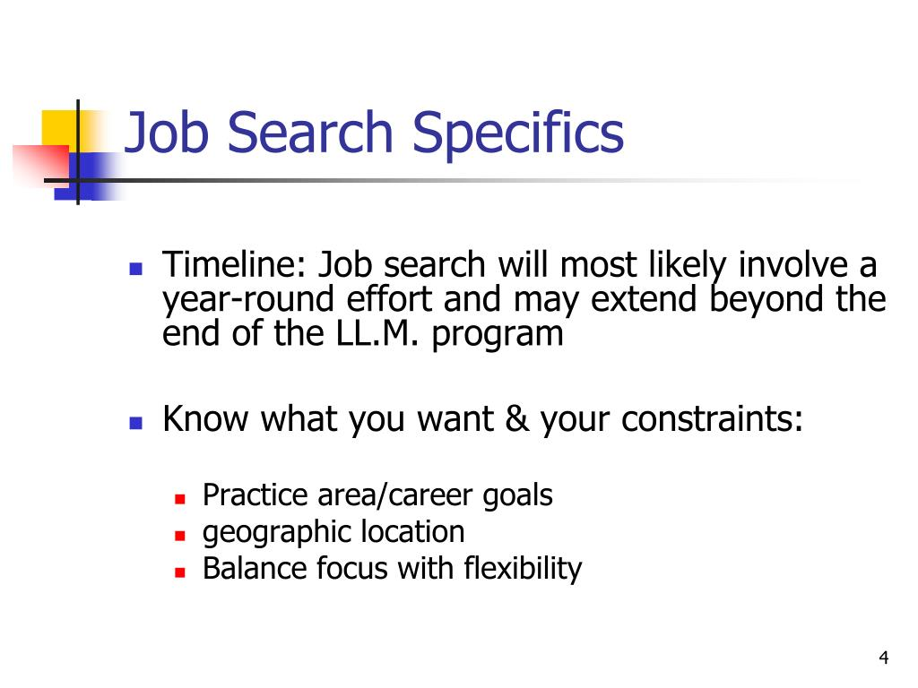 Job Search Specifics