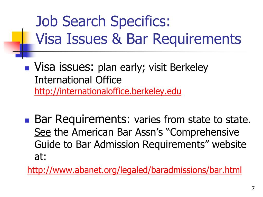 Job Search Specifics: