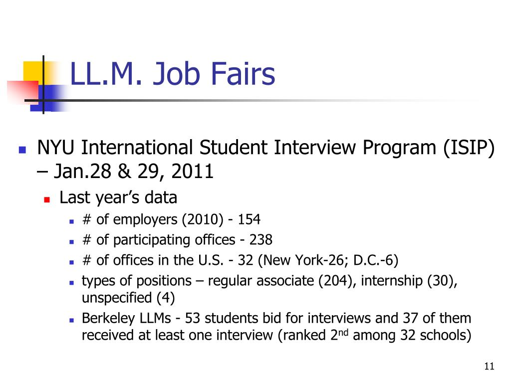 LL.M. Job Fairs