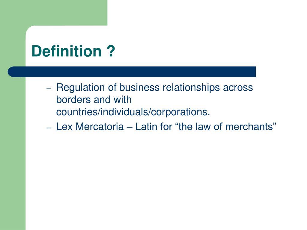 Definition ?
