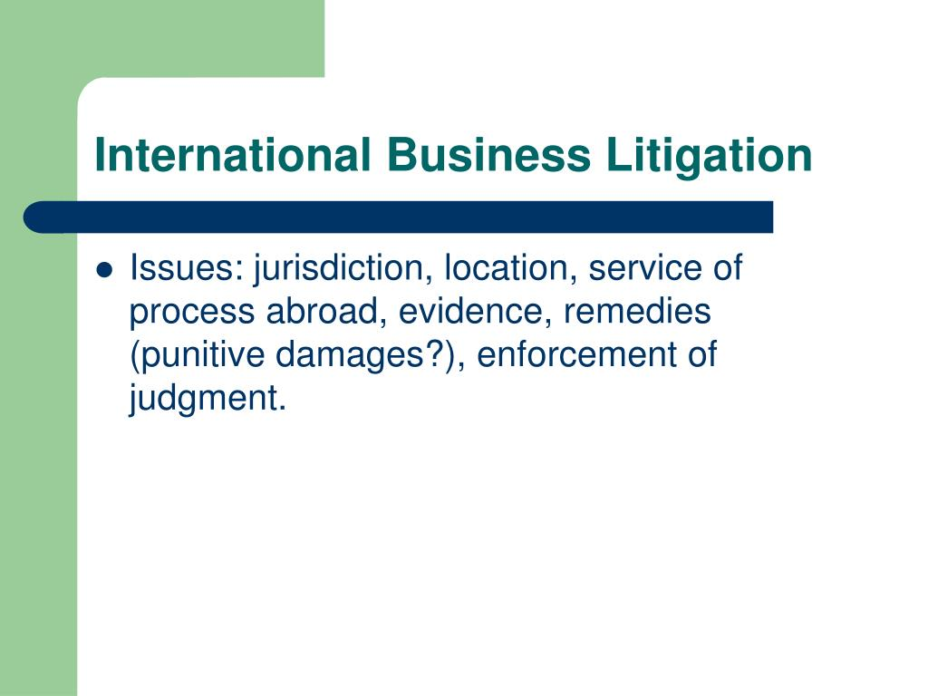 International Business Litigation