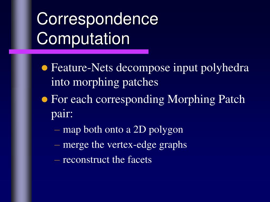 Correspondence Computation