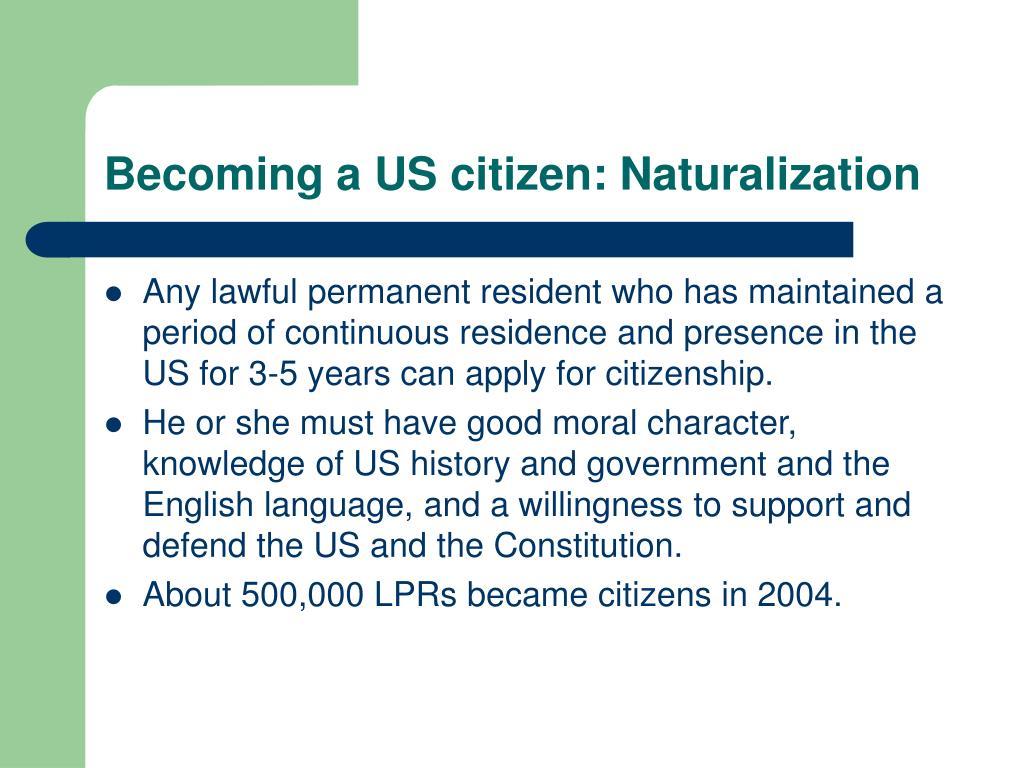 Becoming a US citizen: Naturalization