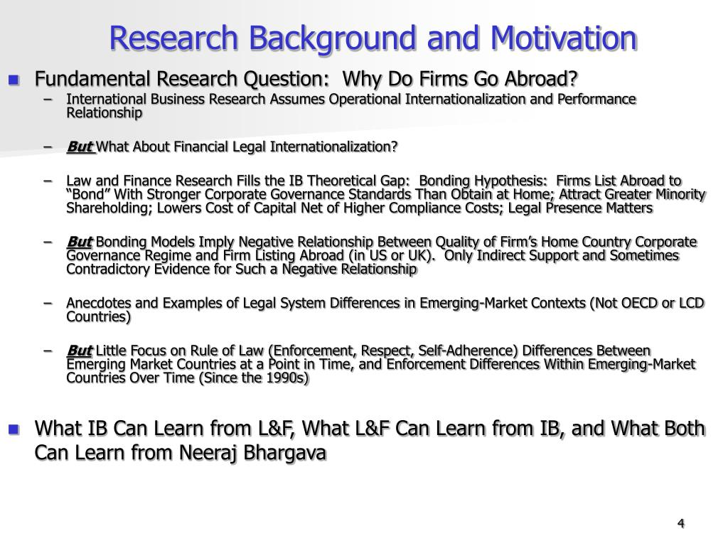 Research Background and Motivation
