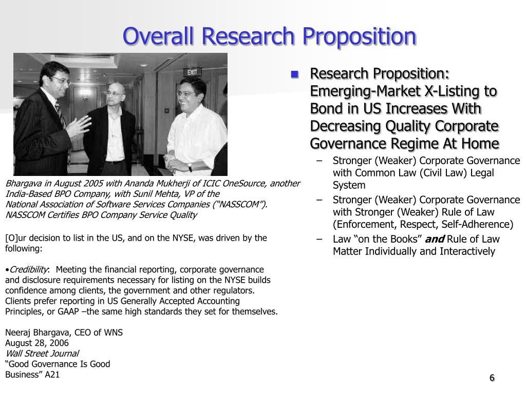 Overall Research Proposition