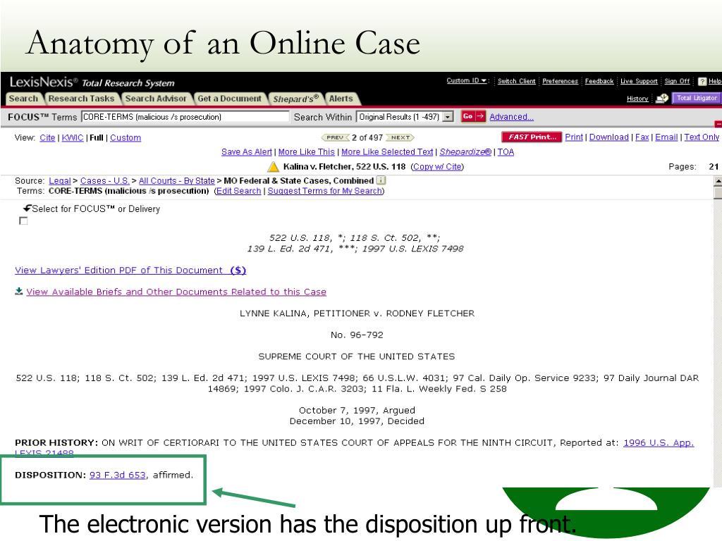 Anatomy of an Online Case
