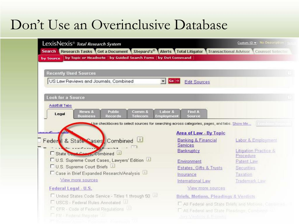 Don't Use an Overinclusive Database