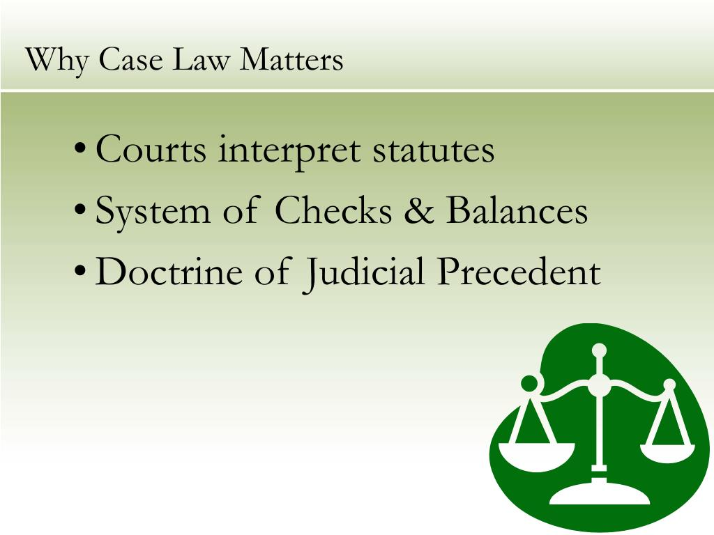 Why Case Law Matters