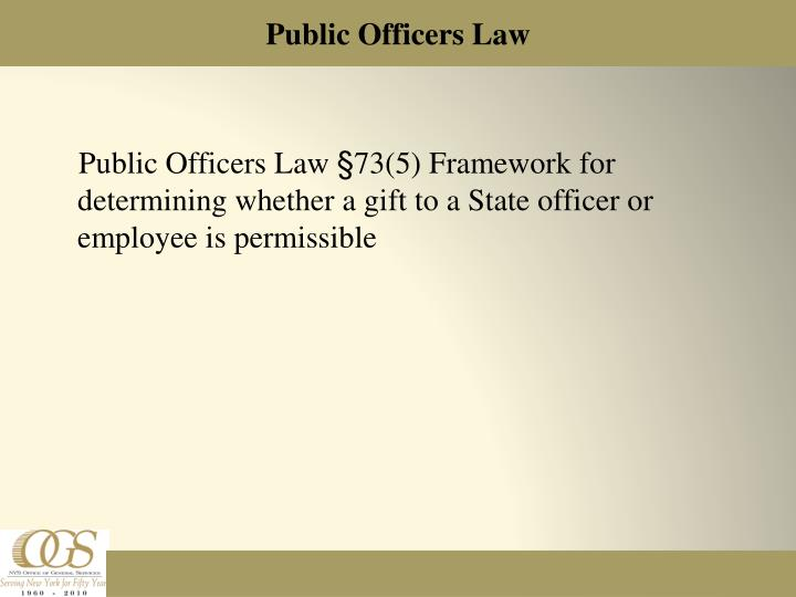 Public officers law
