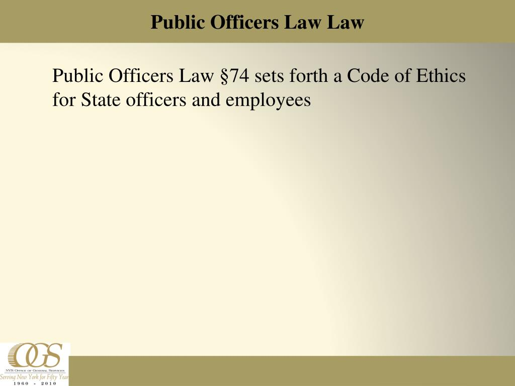 Public Officers Law Law