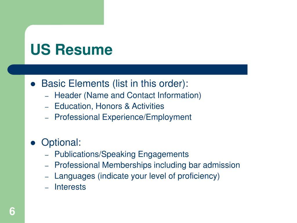 US Resume