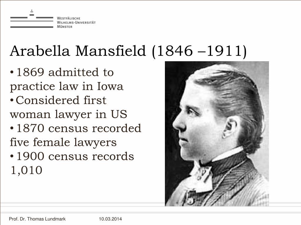 Arabella Mansfield (1846 –1911)