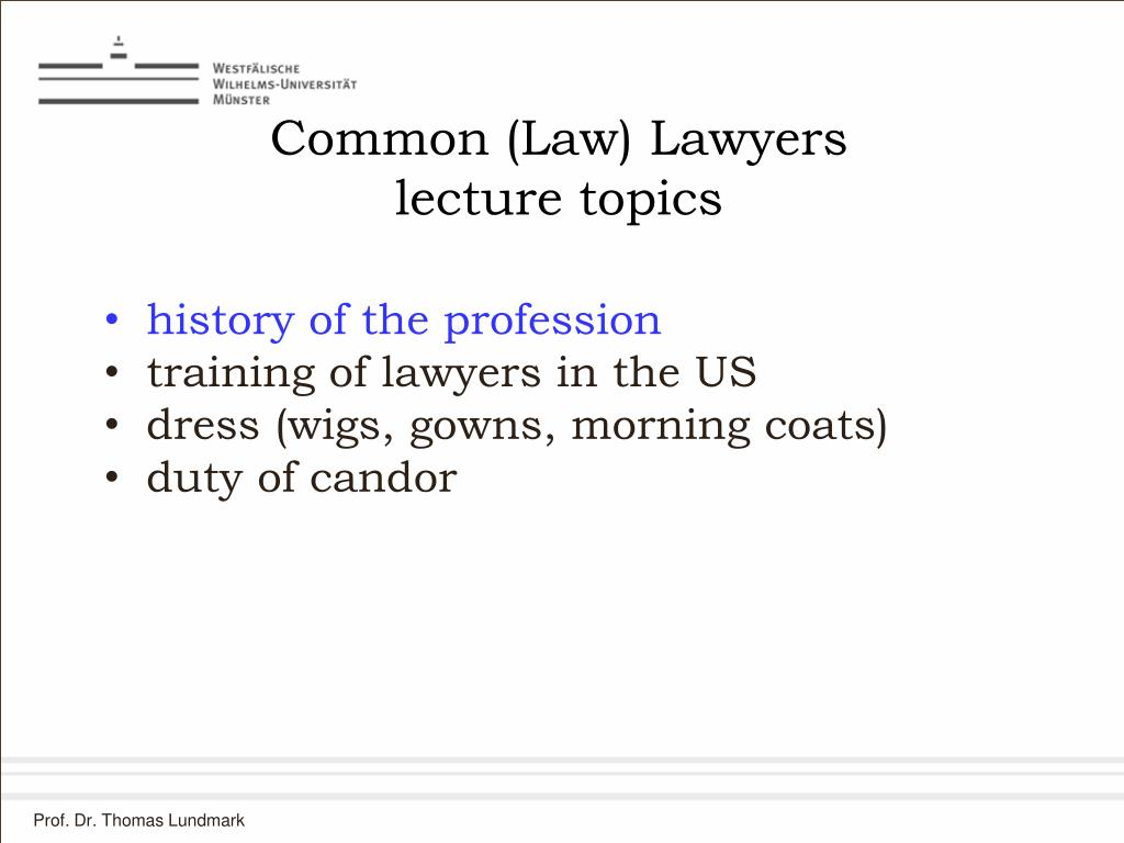 Common (Law) Lawyers