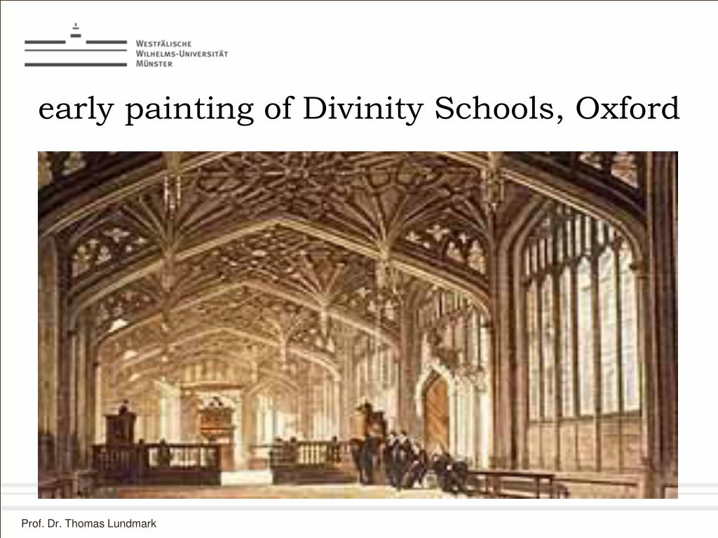 early painting of Divinity Schools, Oxford