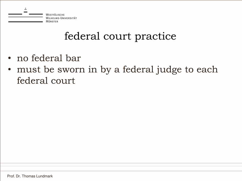 federal court practice