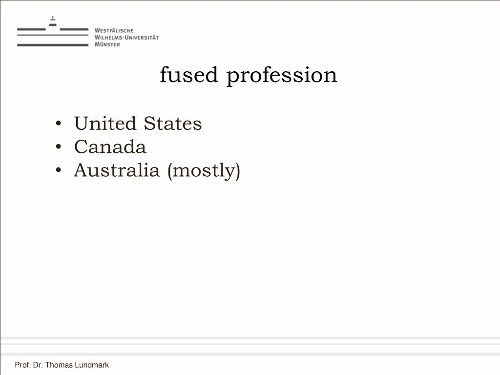 fused profession