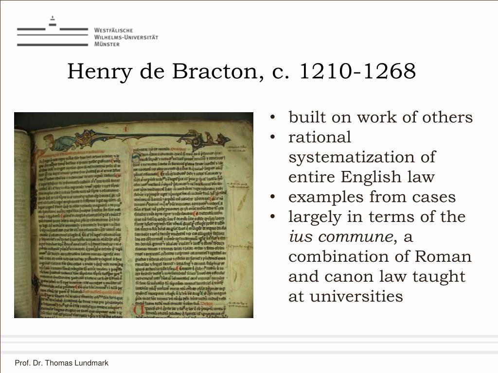 Henry de Bracton, c. 1210-1268