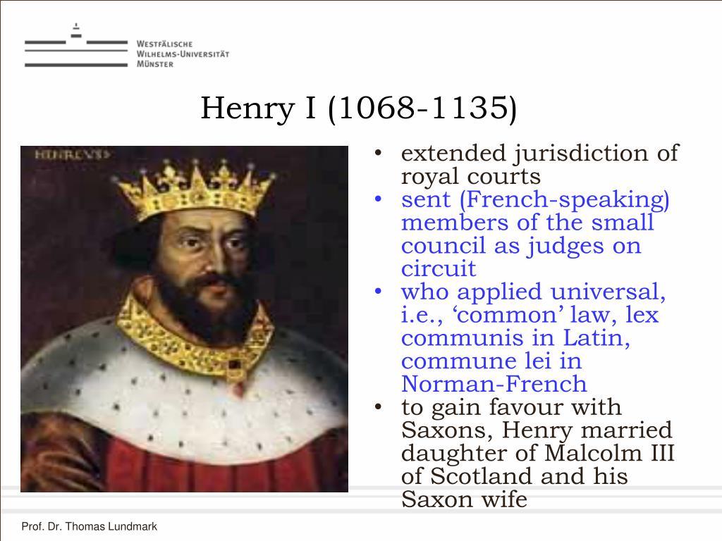 Henry I (1068-1135)