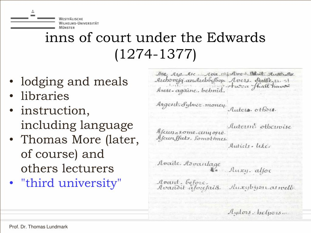 inns of court under the Edwards