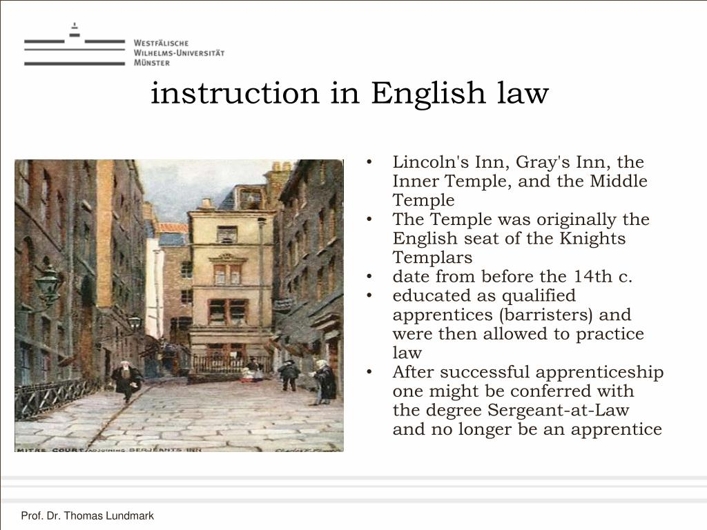 instruction in English law