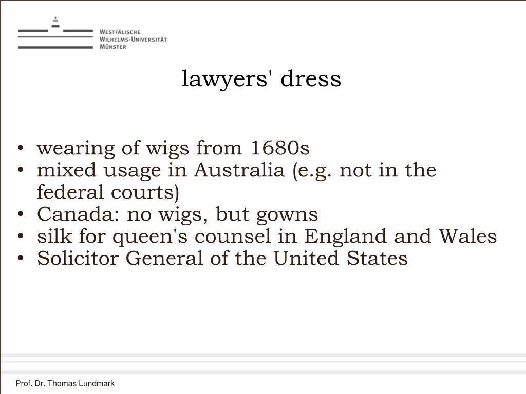 lawyers' dress