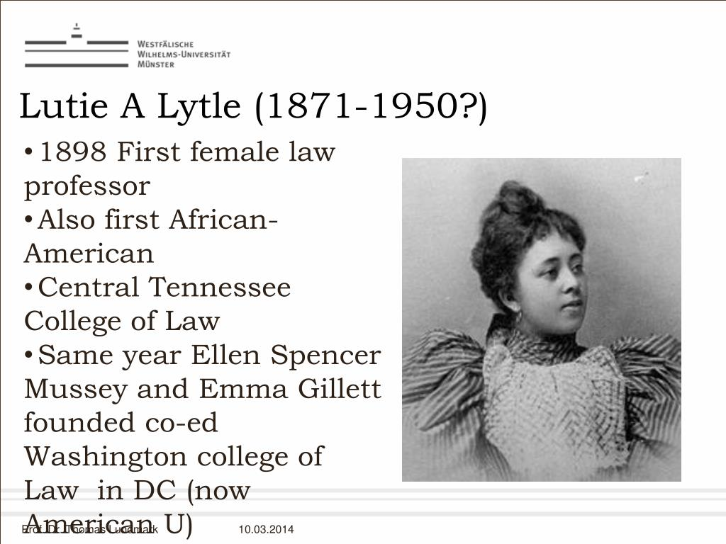 Lutie A Lytle (1871-1950?)