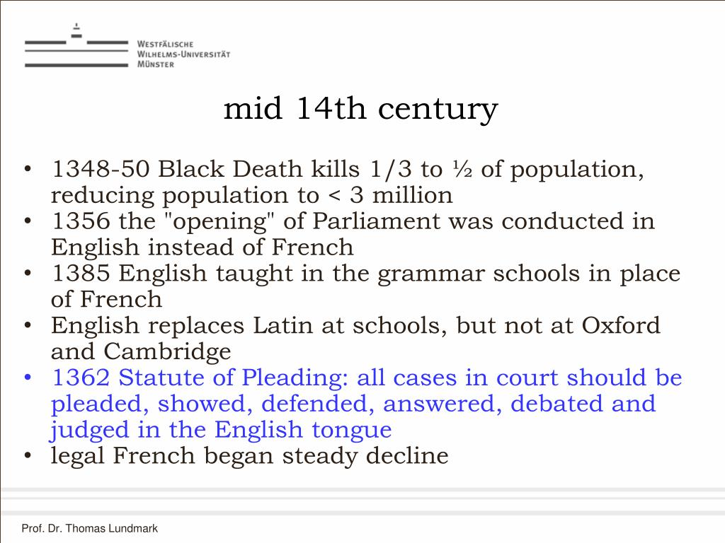 mid 14th century