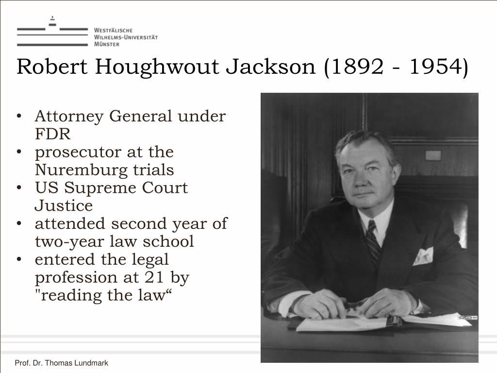 Robert Houghwout Jackson (1892 - 1954)