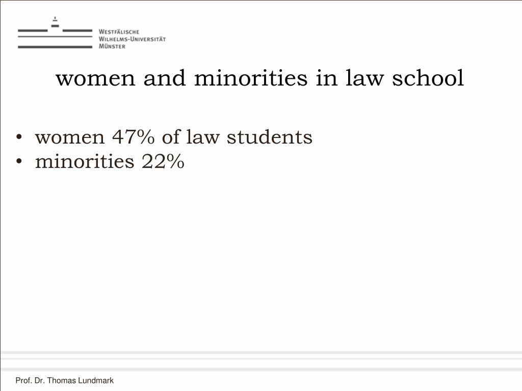 women and minorities in law school