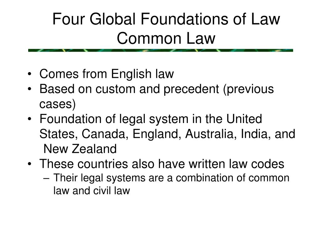 Four Global Foundations of Law
